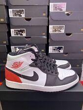 Nike Air Jordan 1 Mid Black Union Toe UK 9.5 EU 44.5