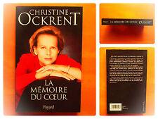 La mémoire du coeur -Christine Ockrent -éditions Fayard