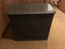 """Vintage WICKER  LAUNDRY Clothes HAMPER BROWN 20""""by 12""""by 18"""" Tall"""