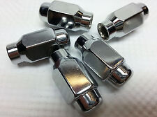 "Pack 5 special ET E-T unilug wheel chrome extra long 7/16"" RH thread lug nuts"