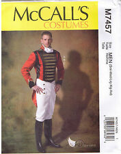 Mens Calvary Colonial Jacket Pants Cravat Costume Sewing Pattern Sz S-XXL 34-52