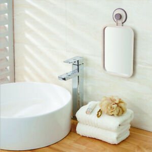 Suction Cup Bathroom Wall Mounted Mirror Shaving Shower Makeup Bedroom Hotel