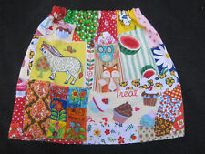 Girls Handmade Colourful 100% Cotton Patchwork Skirt - Size 2