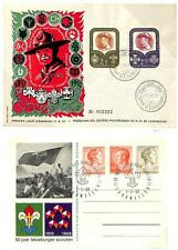 LUXEMBOURG BOY SCOUTS SCOTT #324-25 FDC (1957) & COMMEMORATIVE POSTCARD (1969)