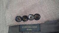 Corneliani Tooth Check Light Brown 2-Vent WOOL SILK 42R Blazer Jacket Sport Coat