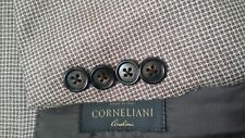 85b7da09b3bf Corneliani Dents Carreaux Bleu Marron Clair Soie Laine 42R Veste Blazer