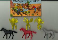 Pech Hermanos Figures 1/32 AMERICAN INDIANS Set of 3 MOUNTED BRAVES