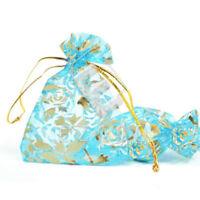 25 pcs 17x23cm Sachets Pochettes Cadeau Organza Mariage Bijoux Bleu ciel