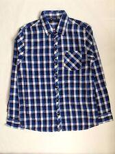 prochain SP garçon`s carreaux Chemise manches longues bleu taille 11 ans