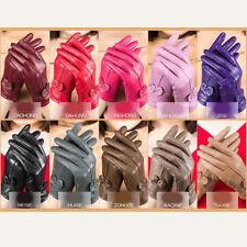 Driving dance Women Winter Warm Genuine Lambskin Leather Soft Lining Gloves Well
