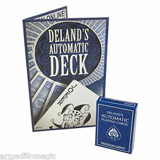 The Deland Automatic Deck - A Marked/Stripper Magic Trick - Blue Back