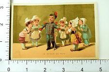 1880s Lovely French Children Military Scenes Victorian 4 Trade Card Set K103