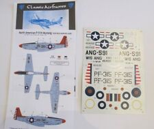 CLASSIC AIRFRAMES DECALC NORTH AMERICAN P-51 MUSTANG 1/48