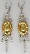 Diamond Dangle Drop Earrings in 18k Yellow and White Gold - HM1360SE