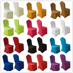 Spandex Stretch Furniture Chair Cover Seat White Wedding Party Dining Decor New