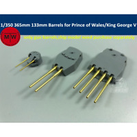 TMW 1/350 365mm & 133mm Brass Barrels for Tamiya 78010 78011 Prince of Wales/Kin