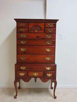 Lexington Pine Queen Anne Highboy Dresser Chest