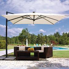 Ombrellone 3x3 giardino con luci led palo alluminio telo idrorepellente