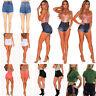 Women's High Waist Stretch Summer Shorts Denim Jean Short Pants Bodycon Trousers
