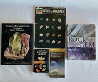 Lot of 5 Vintage Rocks and Minerals Books Gems Collectible History ID Guide