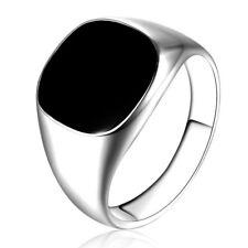 Gold/silver Party Club Geometric Rings Ring Simple Black Drop Oil Men's Fashion