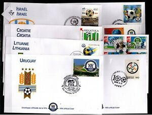 // WHOLESALE 2004 - 8 FDC - SOCCER