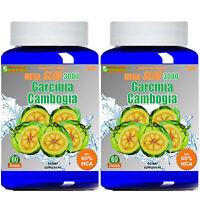 Garcinia Cambogia Extract MEGA SLIM 1000mg 100% HCA  DIET Weight Loss Calcium
