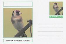 CINDERELLA 4695 - BIRDS - GOLDFINCH  on Fantasy Postal Stationery card