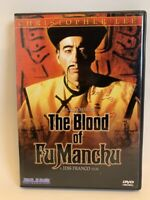 THE BLOOD OF FU MANCHU rare US DVD CULT Jess Franco Horror racist exploitation
