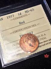 1977 GEM 1 CENT ICCS MS65