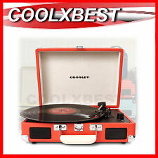 CROSLEY CRUISER SUITCASE PORTABLE TURNTABLE RECORD PLAYER 3 SPEED (RFB)