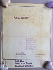 LOS ANGELES PUBLIC LIBARY SIGN DEVELOPMENT PLANS Blueprints Industrial Art 1976