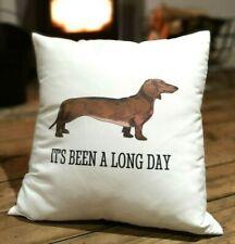 Dachshund Cushion Cover - Cute Sausage Dog Gift - Dashund Daschund Throw Cushion