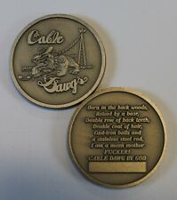 CABLE DAWG BY GOD Communications / Comm E&I  Air Force Challenge Coin