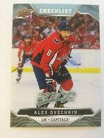 UPPER DECK 2019 - 2020 MVP ALEX OVECHKIN CHECKLIST #100 1 CARD