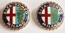 2 Alfa Romeo Milano emblems, Spider , Giulia , GT, GTV