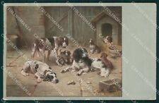 Reichert Hunting Dog SOFT CREASE MM 293 postcard cartolina QT7076