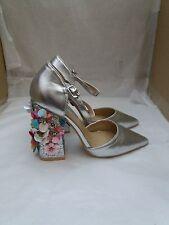 Daisy Street Sebrina Flower Detail Point Heeled Shoes - Size UK 3