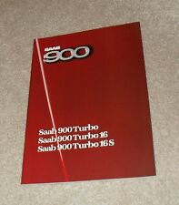 Saab 900 Brochure 1985 - Turbo 16S - Turbo 16 - Turbo Hatchback & Coupe