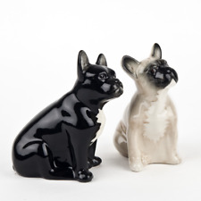 Quail Ceramics - French Bulldog Salt and Pepper - Fawn and Black