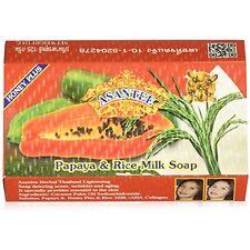Pack Of 4 Asantee Thai Papaya & Rice Milk Skin Whitening Soap 125g