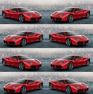 Birthday Wrapping Paper Beautiful Red Ferrari Large Sheet Of Gift Wrap
