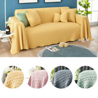1/2/3/4 Seater Knitted Solid Sofa Cover Universal All-Inclusive Sofa Couch Cover