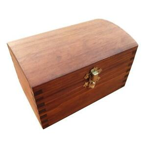 WOODEN JEWELLERY CHEST LOCKABLE LATCH IN BROWN COLOR