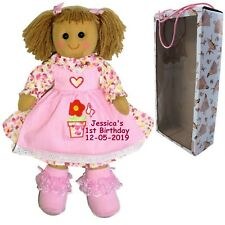 Personalised Rag Doll Baby's 1st Birthday 13th 16th 18th 21st 30th + Gift Box