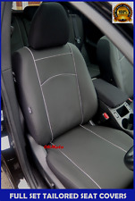 Black Eco-Leather Tailored Full Set Seat Covers Ford Mondeo Mk5 2014 - onwards