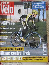 TOP VELO N°71: FEVRIER 2003: 42 TIGES DE SELLE - COLNAGO DREAM+ B-STAY - PREUSS