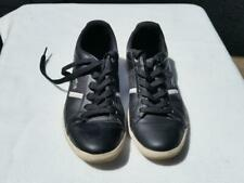 Lacoste EUROPA L MF Black Sneaker White Stripe Used 10.5 Classic Tennis Mens