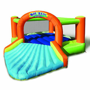 Banzai Big Slide Bouncer Outdoor Inflatable Kids Playhouse and Slide with Blower