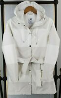 HELLY HANSEN Womens Small Water/Windproof Belted White Jacket Primaloft Insulate
